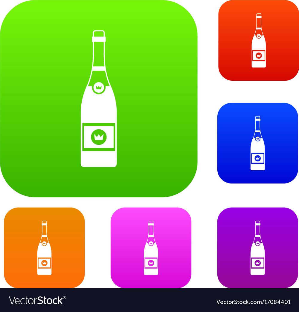 Champagne set collection vector image