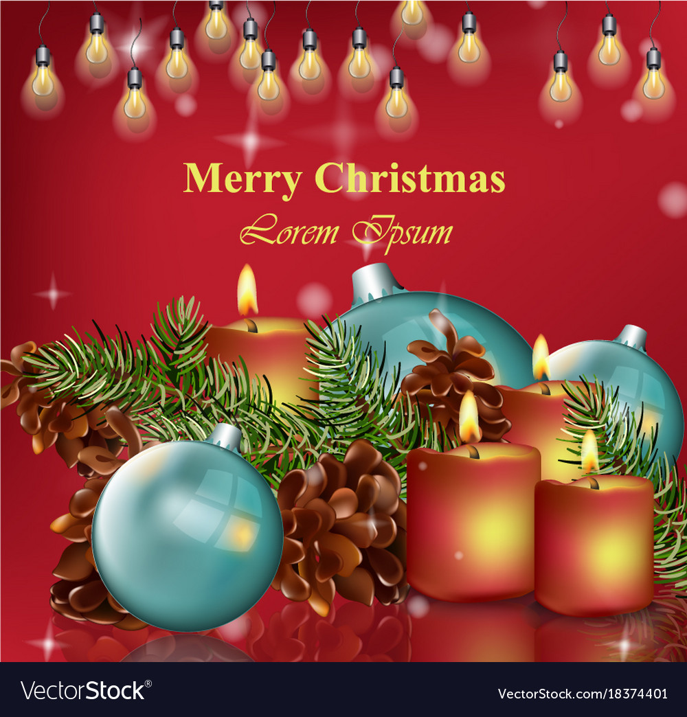 Merry christmas card background happy Royalty Free Vector