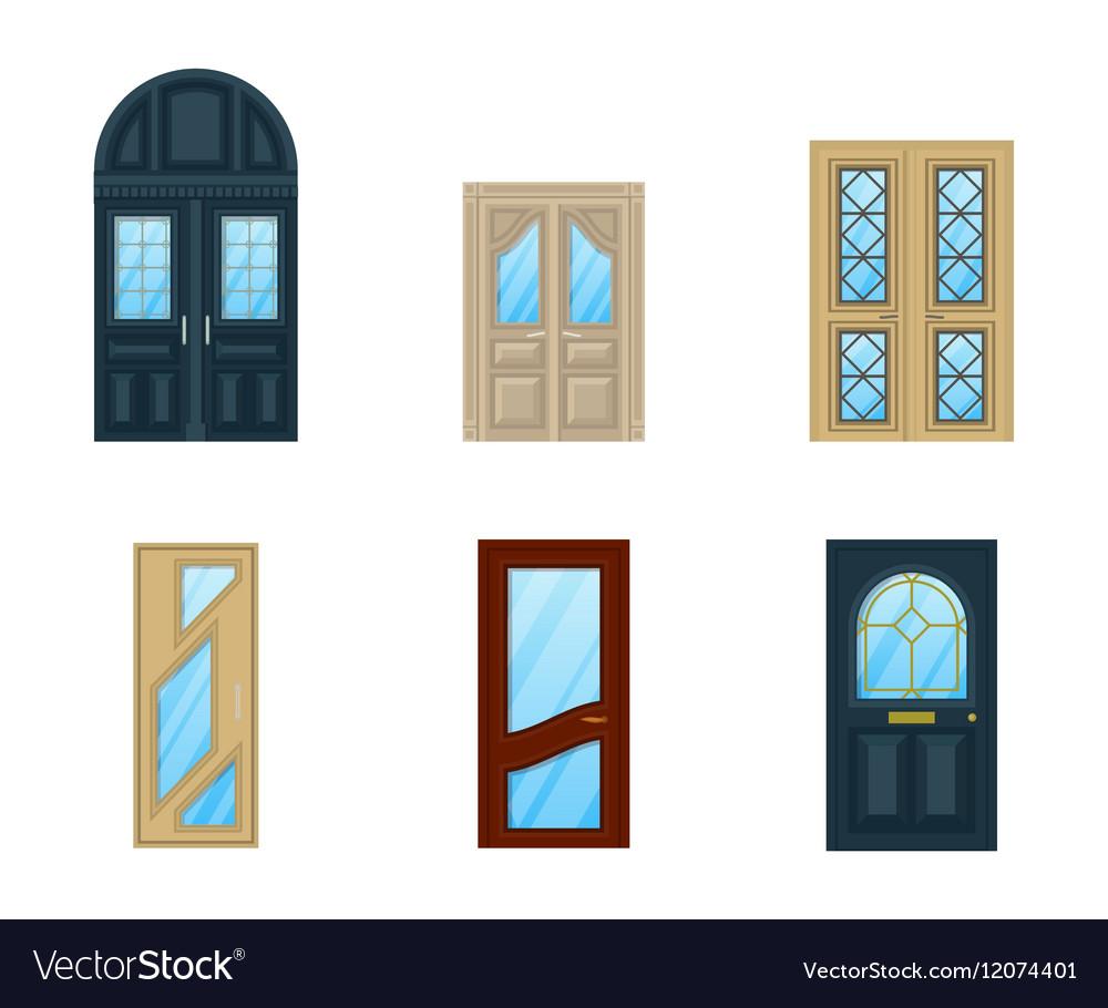 Set of interior apartment doors design