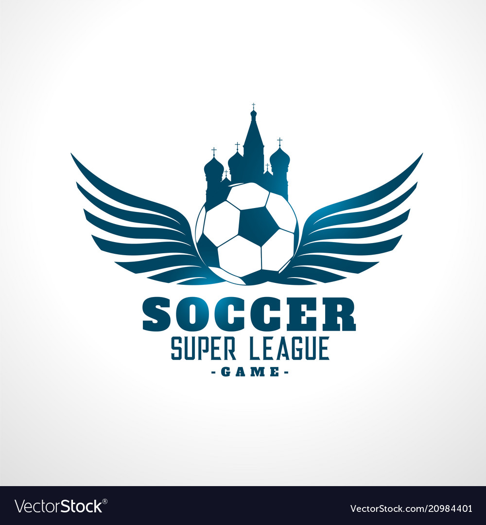 Soccer russia tournament league label design