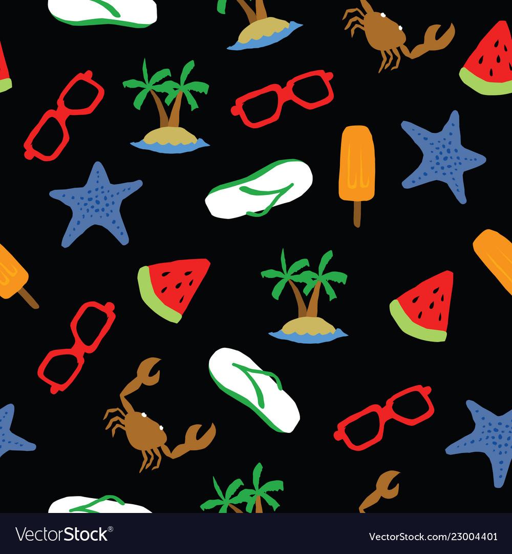 Summer pattern background seamless