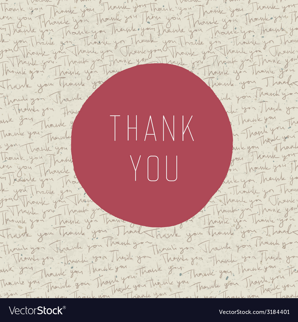 thank you card template royalty free vector image