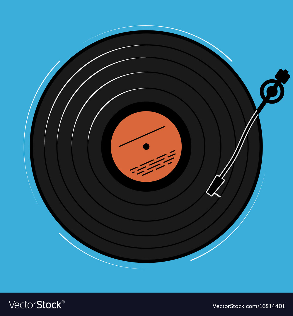 The vinyl player shown schematically and simply a