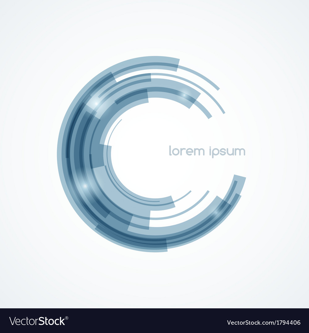 Abstract round element vector image