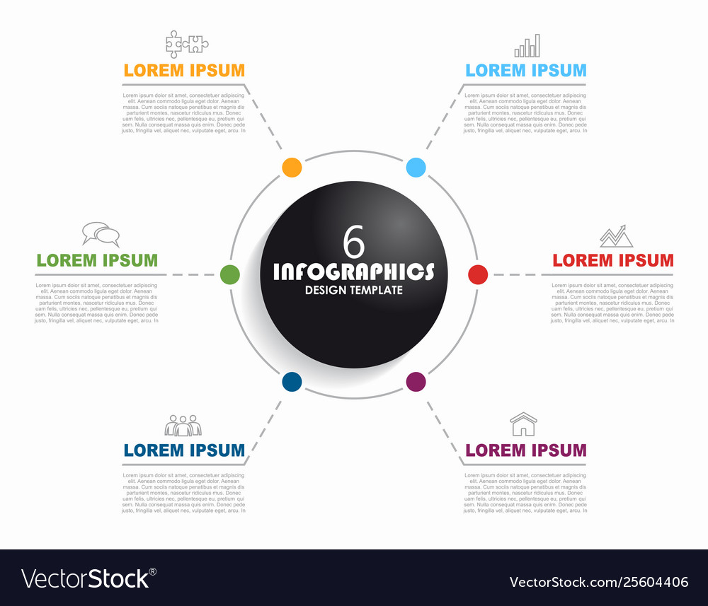 Infographic design template with place for your