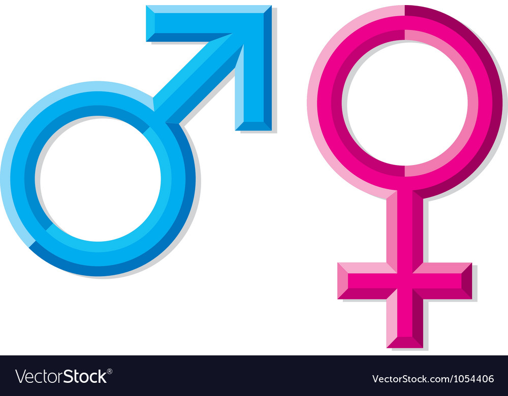 Male And Female Gender Symbols Royalty Free Vector Image
