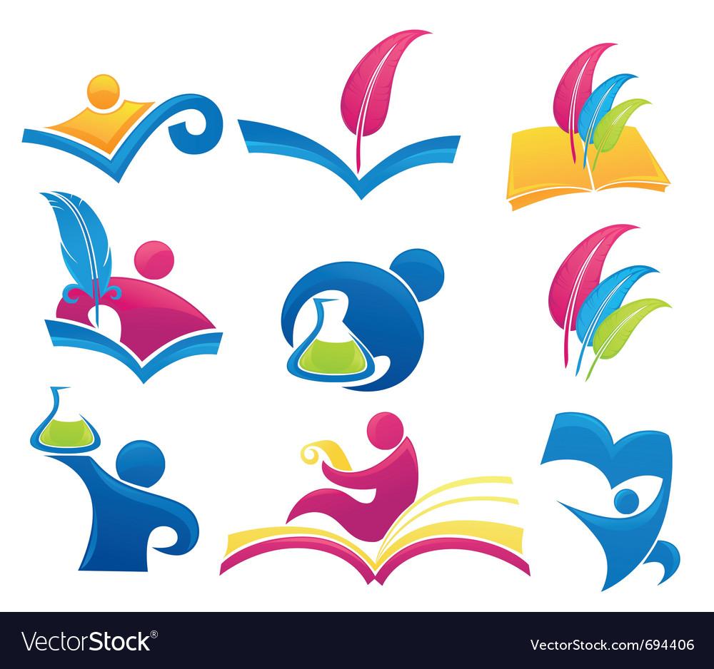 Symbols Of Education Royalty Free Vector Image