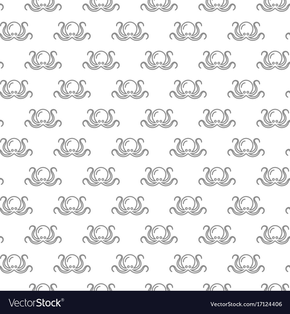 Unique digital octopus seamless pattern with