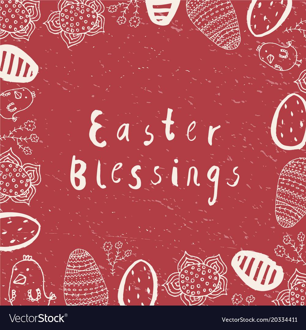 Easter card poster banner brushpen