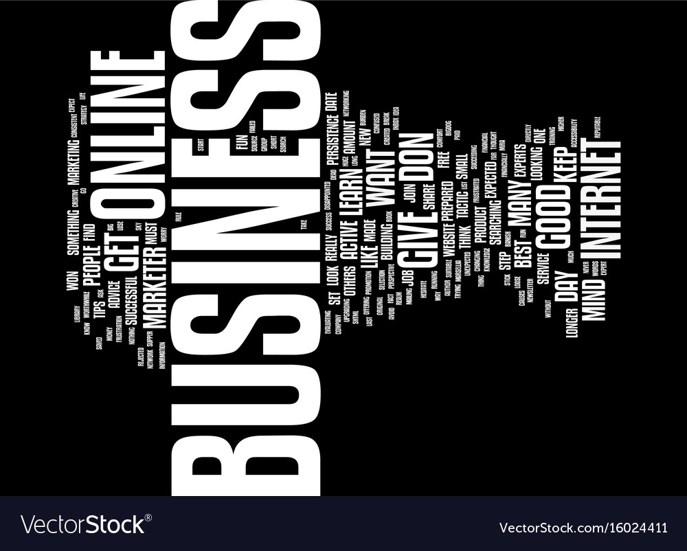 Find the online business made for you steps to vector image
