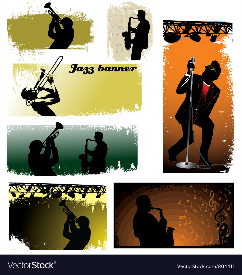 Jazz Banners vector image