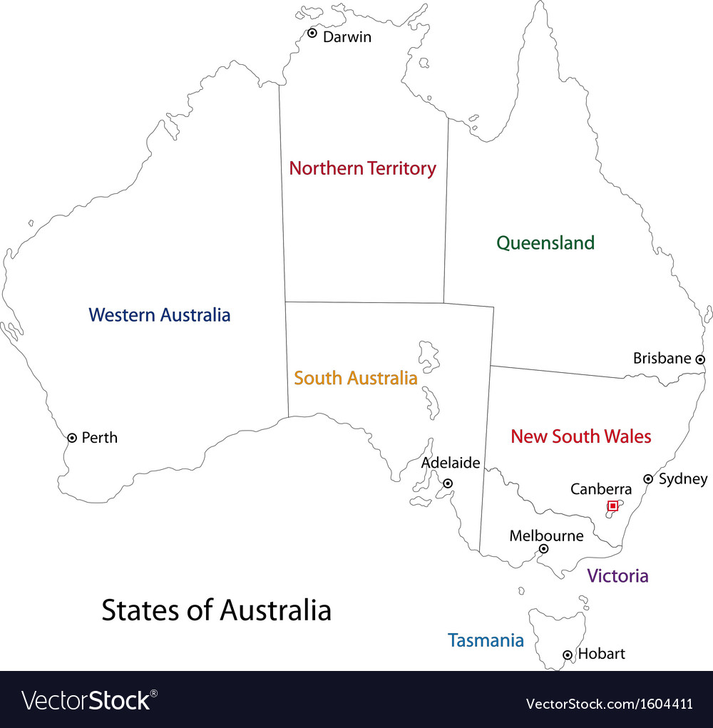 Australia Map Vector Ai.Outline Australia Map