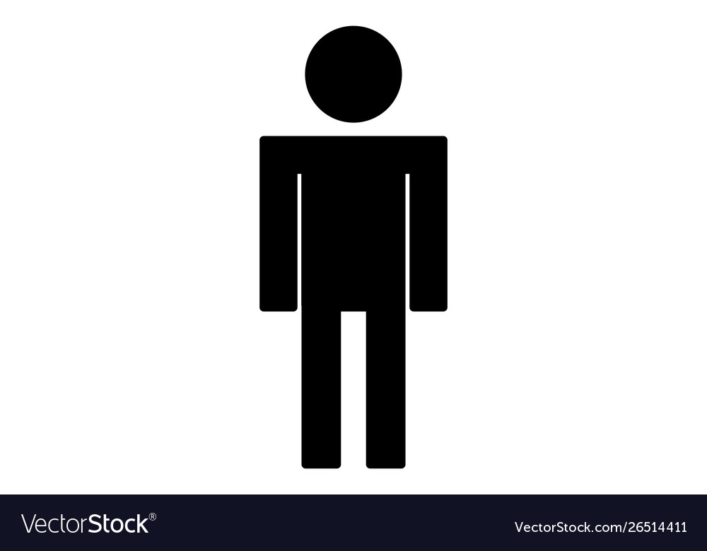 Person icon isolated on white background people