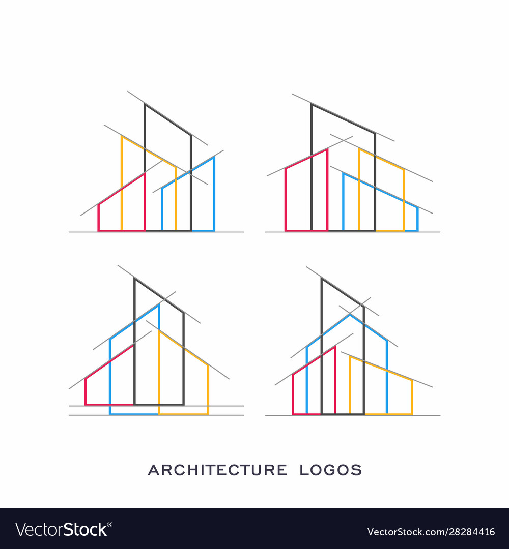 Architecture real estate building logo vector image