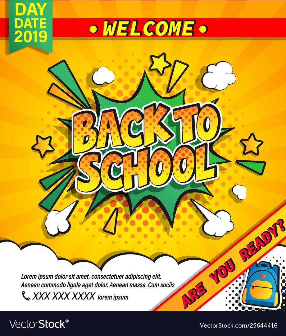 Back to school invitation banner