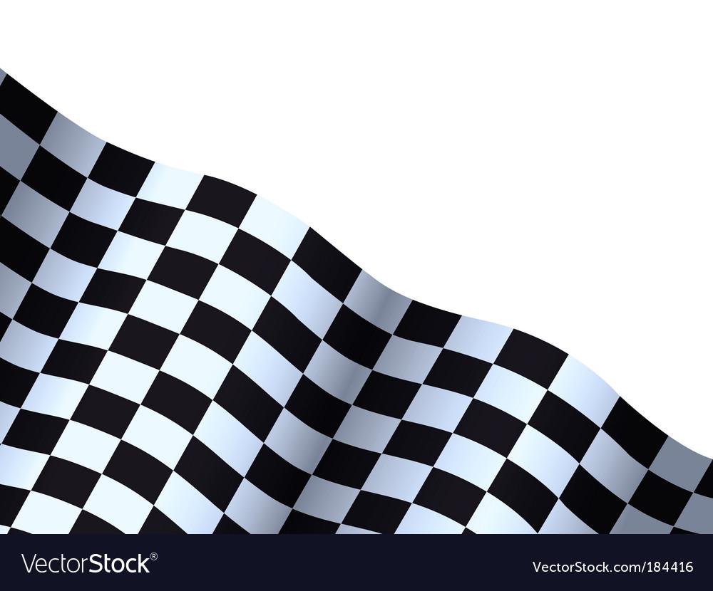 checkered flag royalty free vector image vectorstock rh vectorstock com checkered flag vector art checkered flag vector art free