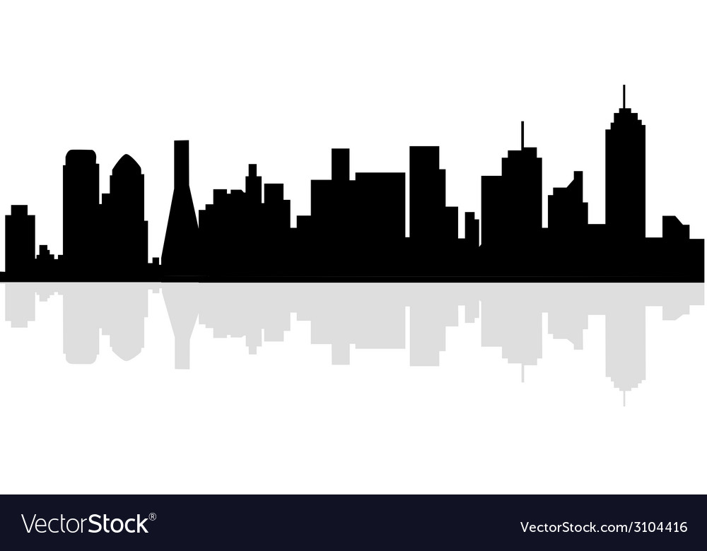 dallas skyline royalty free vector image vectorstock rh vectorstock com skyline vector free skyline vector logo