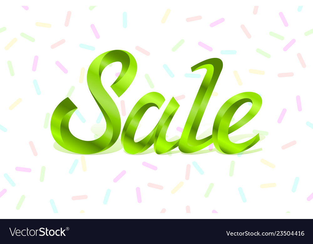 Green metal lettering sale price offer deal