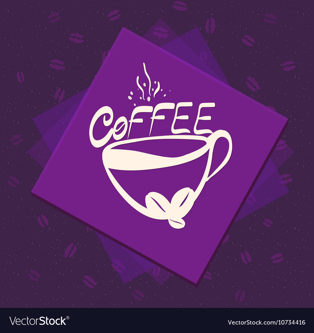 Morning cup of coffee on Color background Vintage