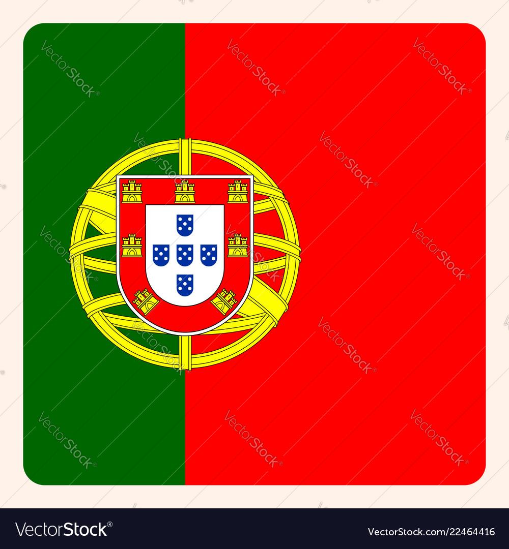 Portugal square flag button social media