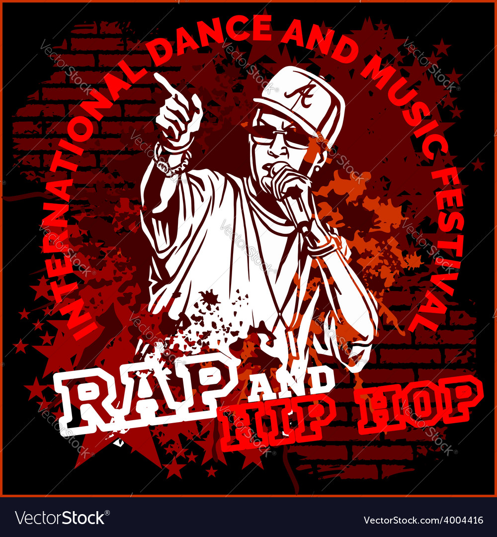 Rap hip hop graffiti - poster