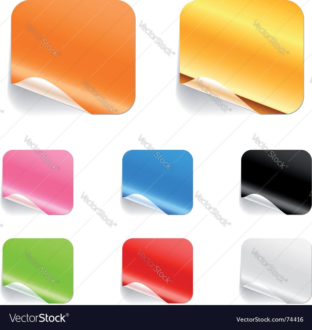 Square stickers
