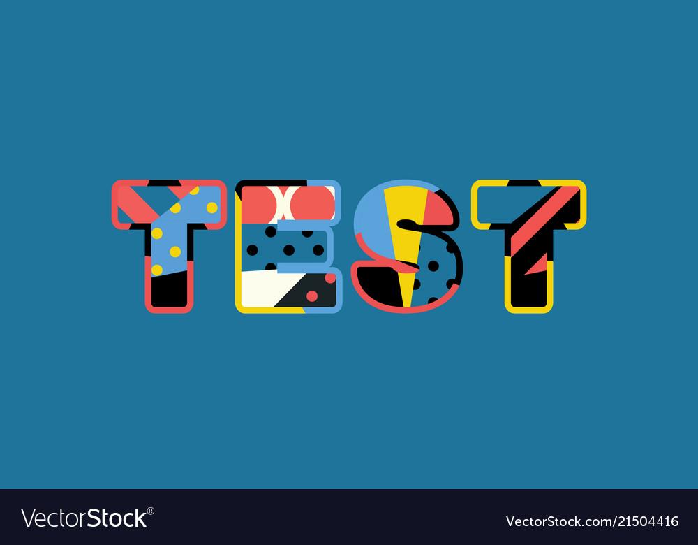 Test concept word art