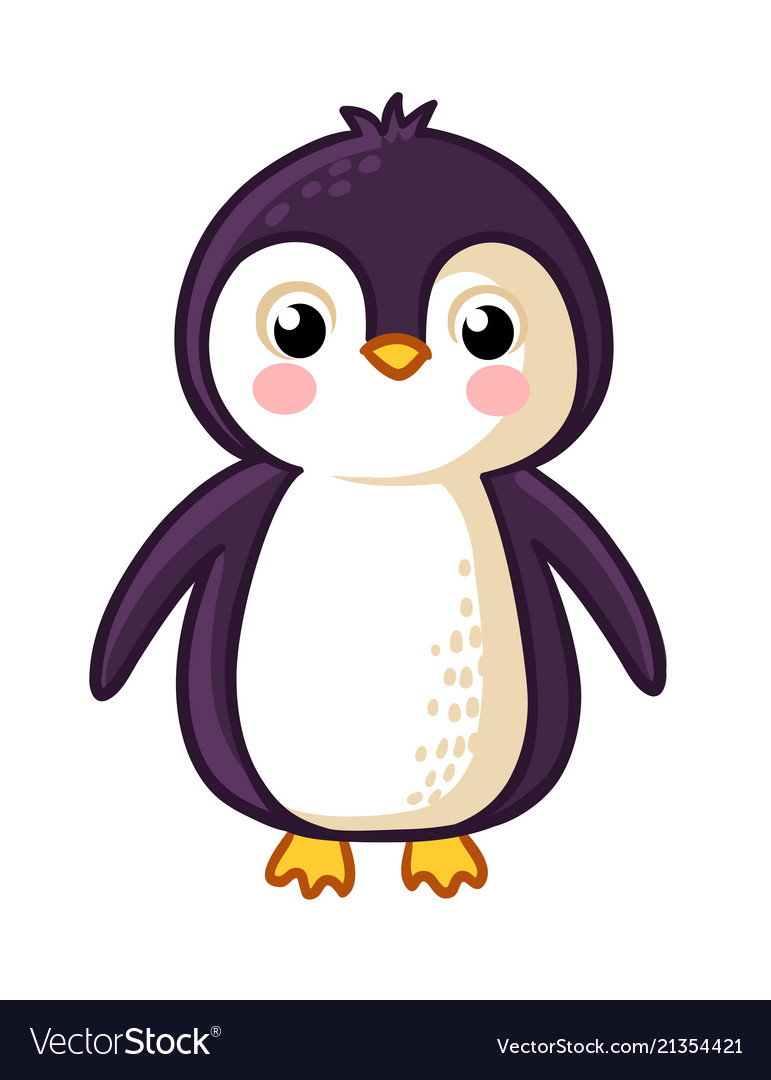 Cartoon penguin icon