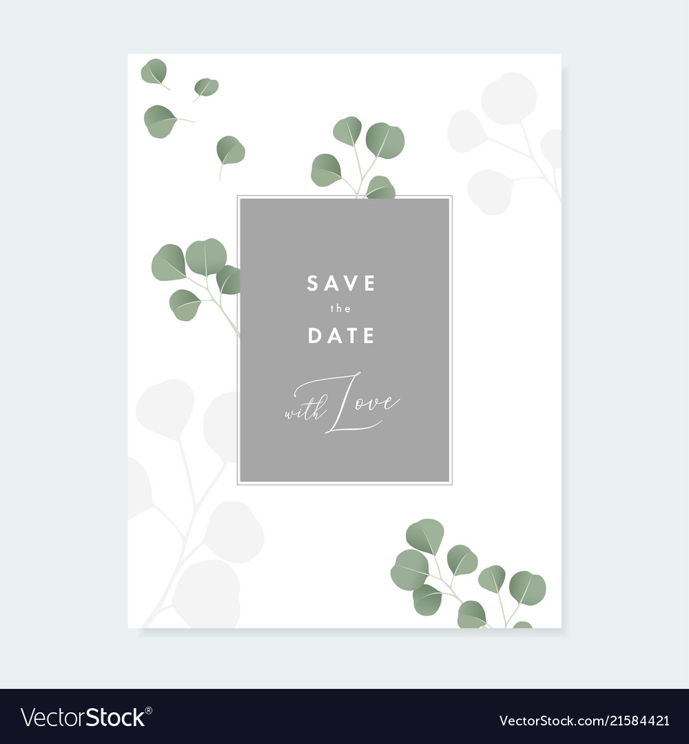 Floral wedding invitation greeting card