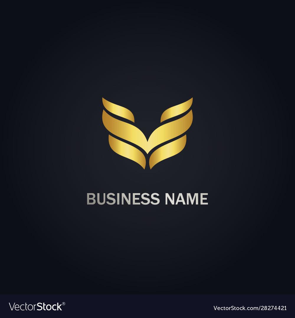 V wing initial company logo