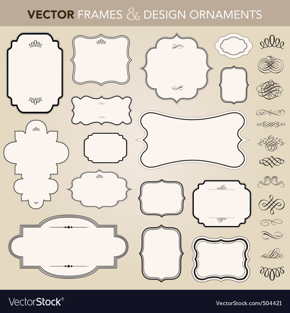 Vector design ornaments set vector image