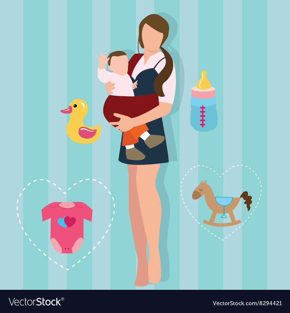Woman mother holding carrying baby carrier child