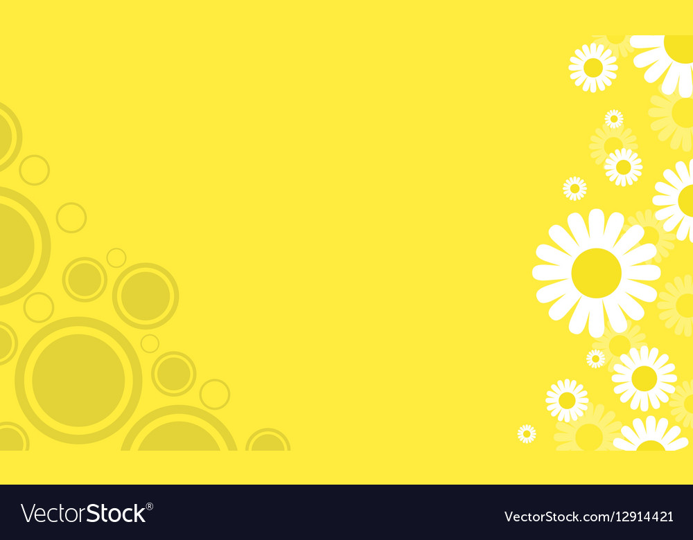 Yellow background with flower spring