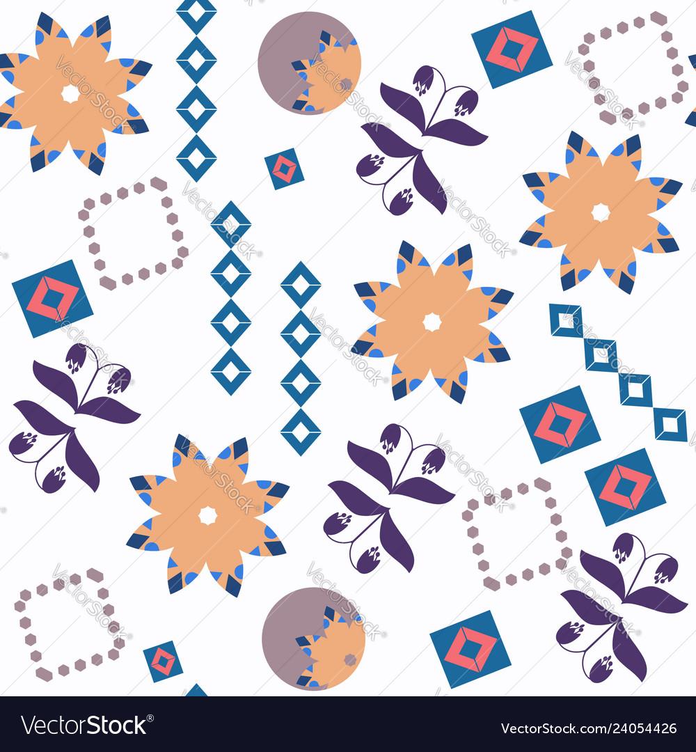Abstract floral fantasu nature seamless pattern