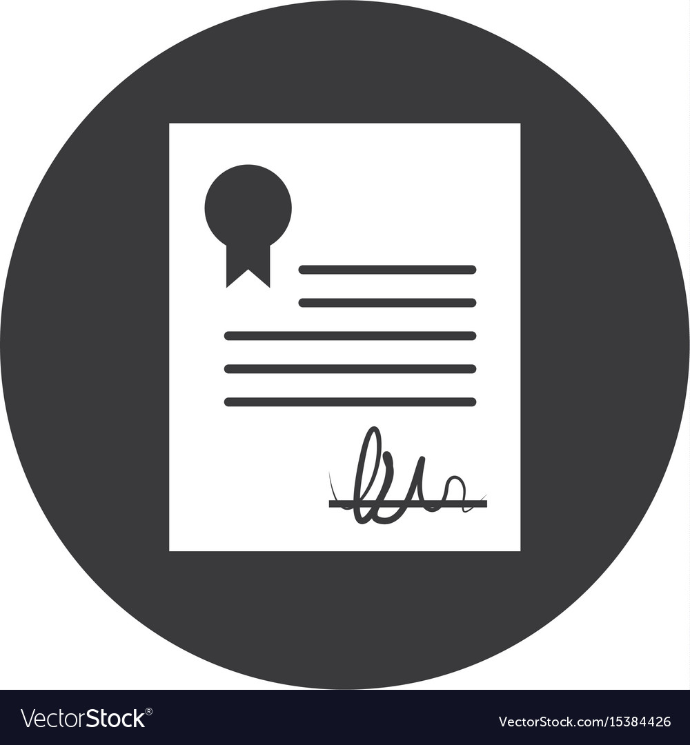 Contract certificated symbol vector image