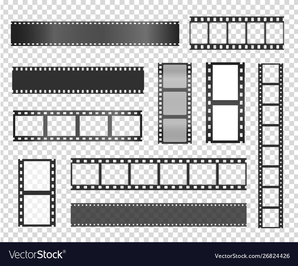 Film strip realistic isolated