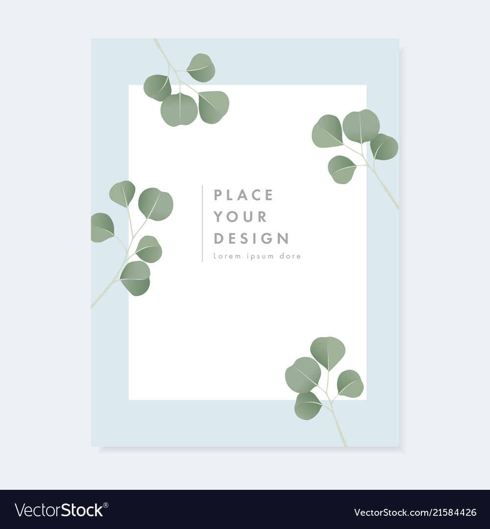 Floral Wedding Invitation Greeting Card With Vector Image