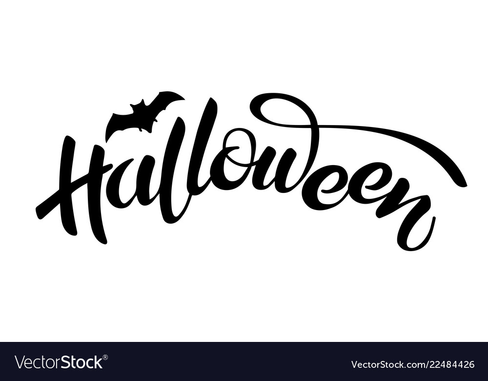 Halloween lettering holiday calligraphy text