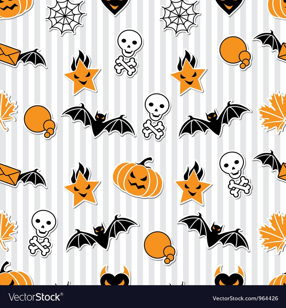 halloween wallpaper pattern vector image
