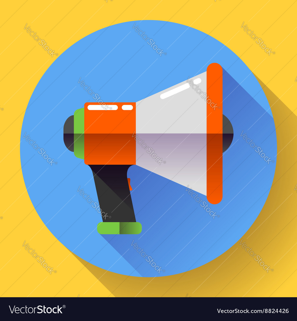 Megaphone Icon Viral marketing Flat
