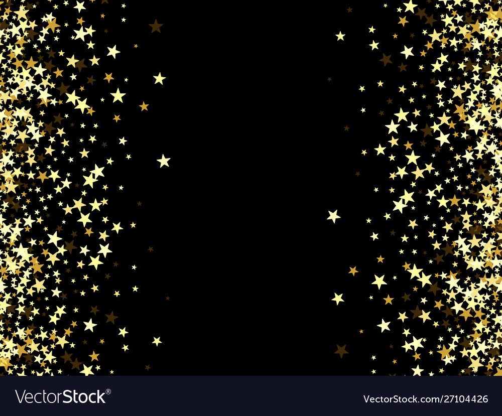 Salute gold stars on a black background