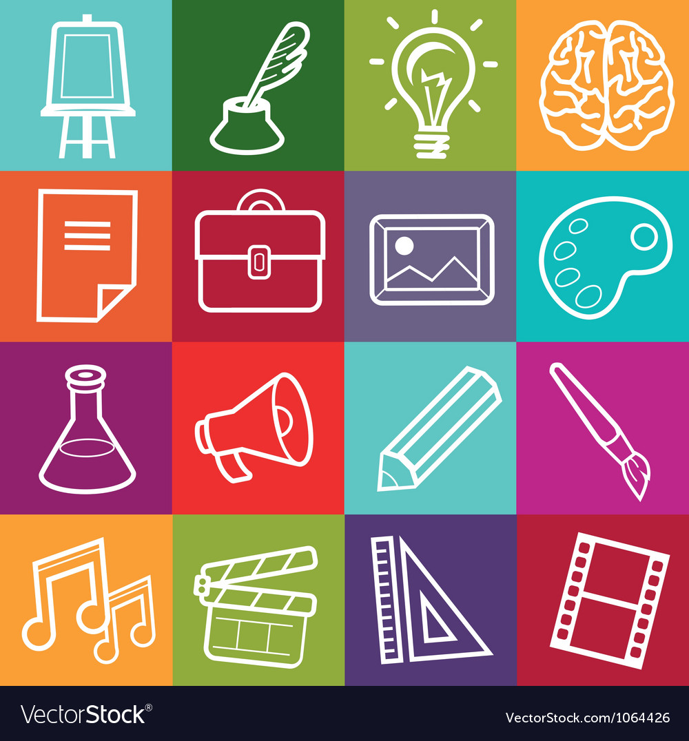 Set of creative icons vector image