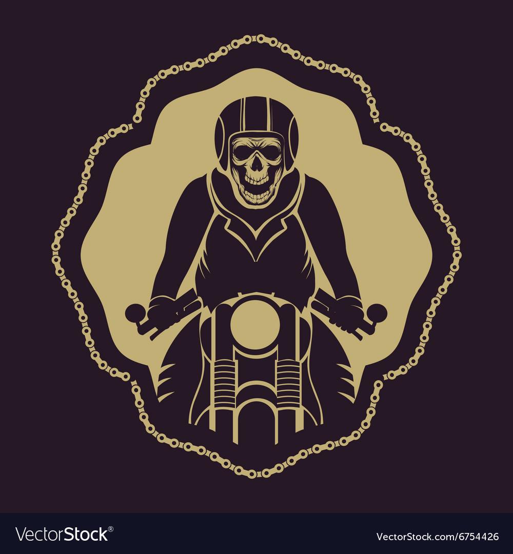 Skull motorcycle logo