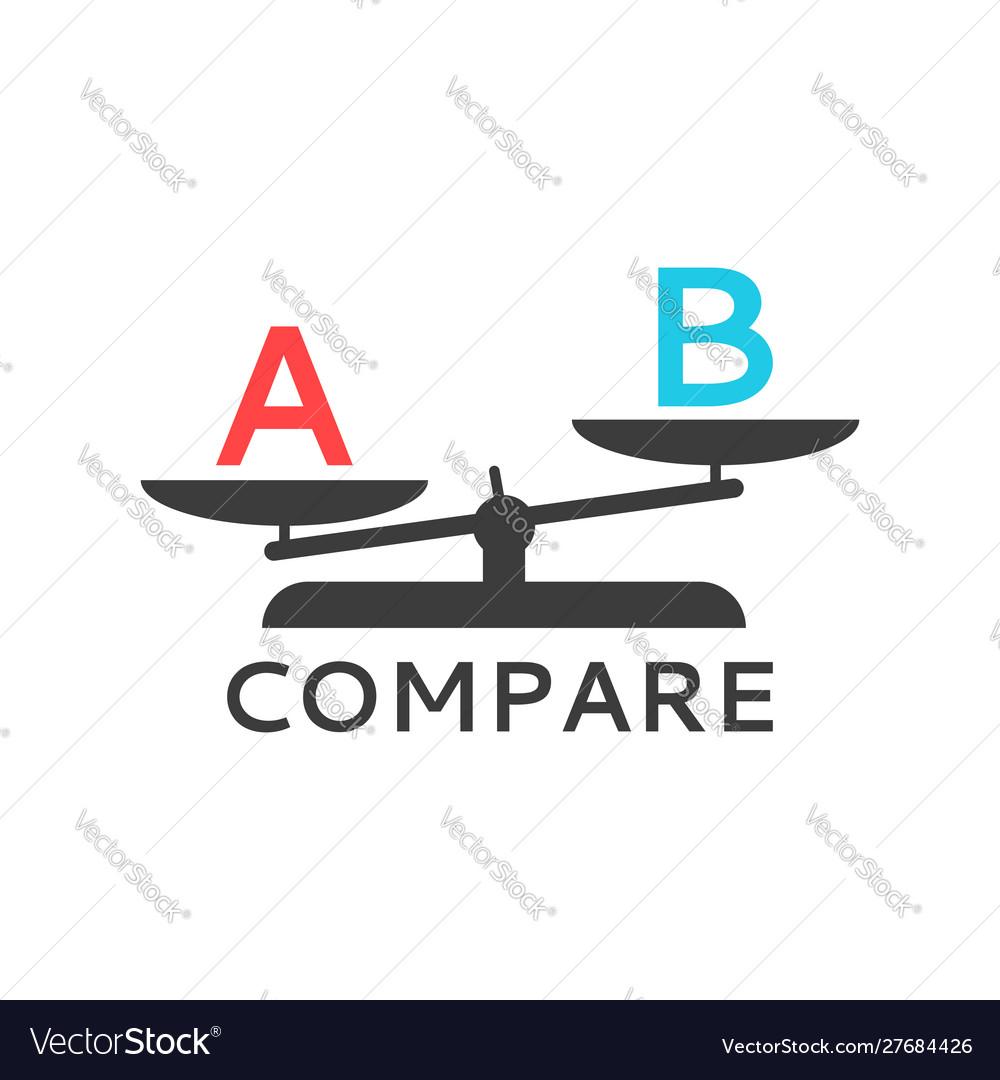 Symbol for scales logo comparison