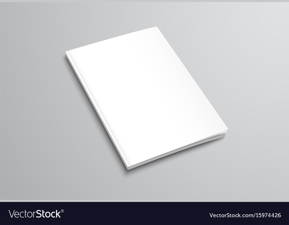 Template of white blank brochure on gray