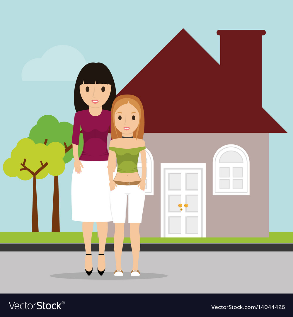 Women family home estate image
