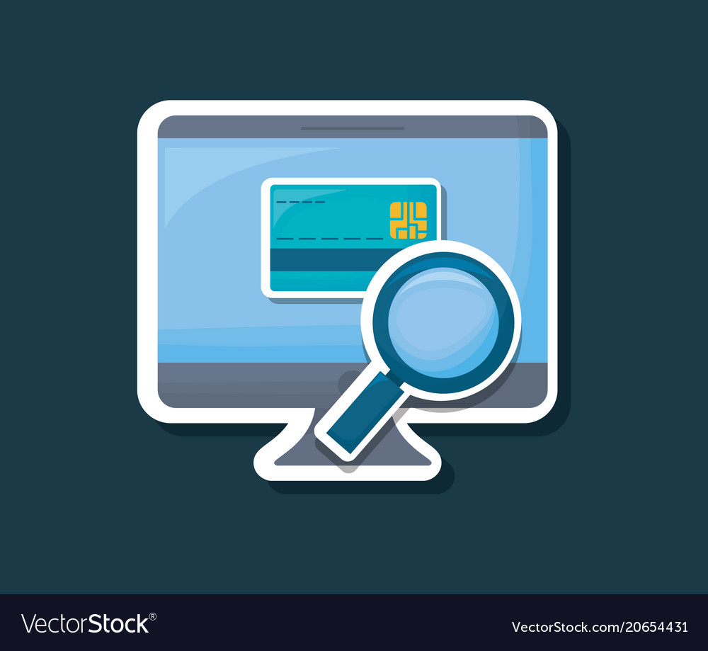 Computer and credit card icon