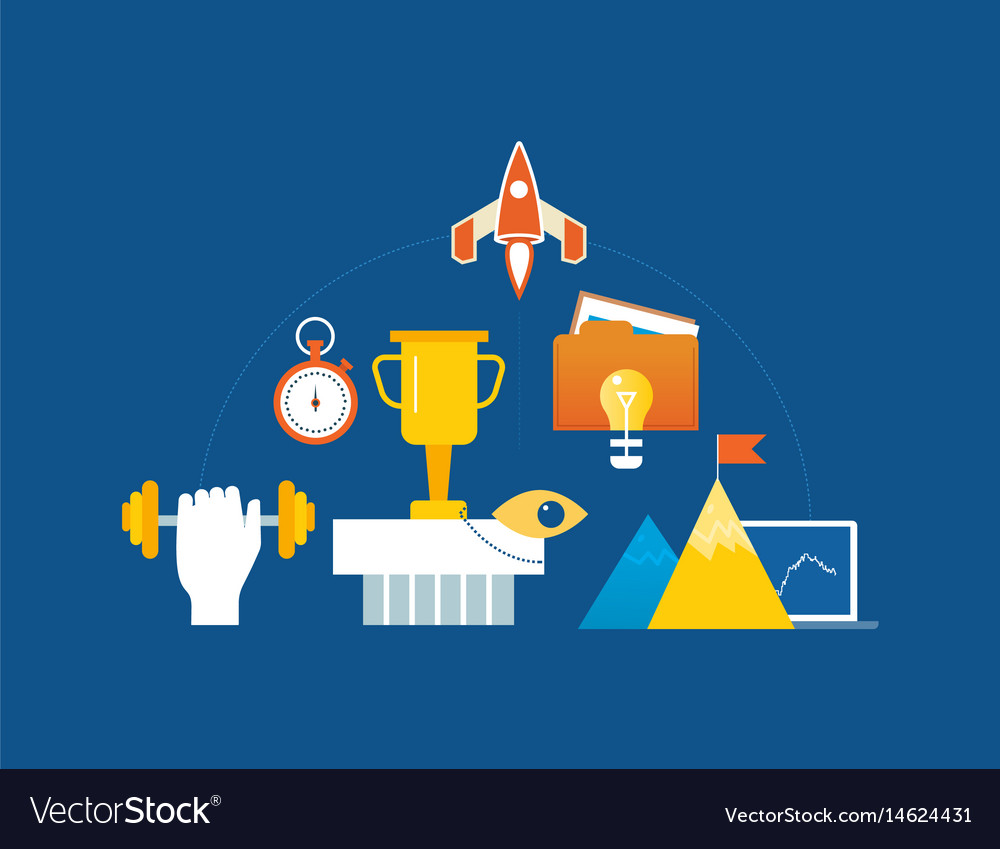 Leadership success motivation conquering peaks vector image
