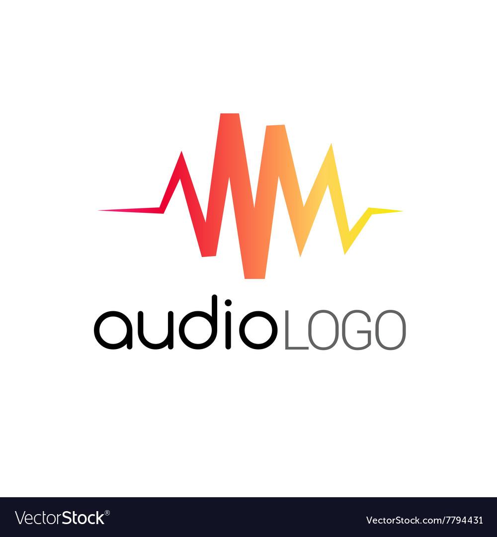 Music Logo concept sound wave studio music DJ