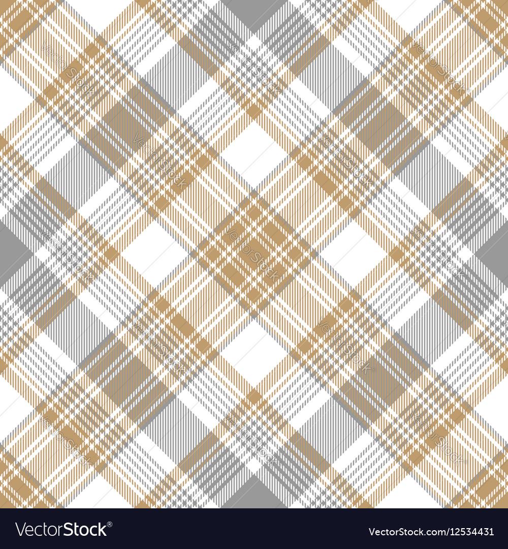 Platinum gold tartan diagonal seamless pattern